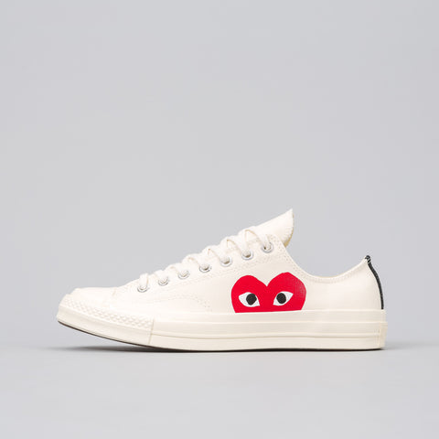x CDG Play CT70 Low in White
