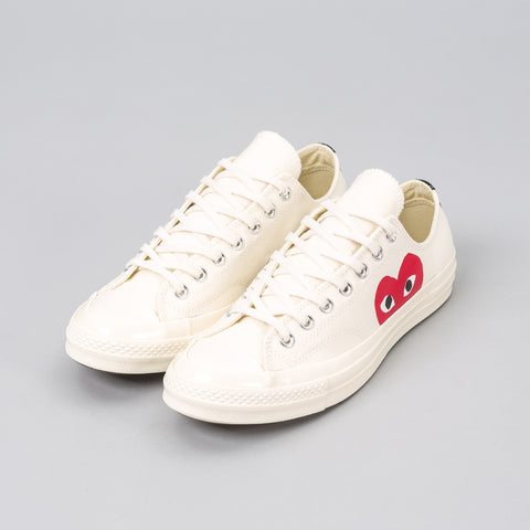 Converse x CDG Play CT70 Low in White - Notre