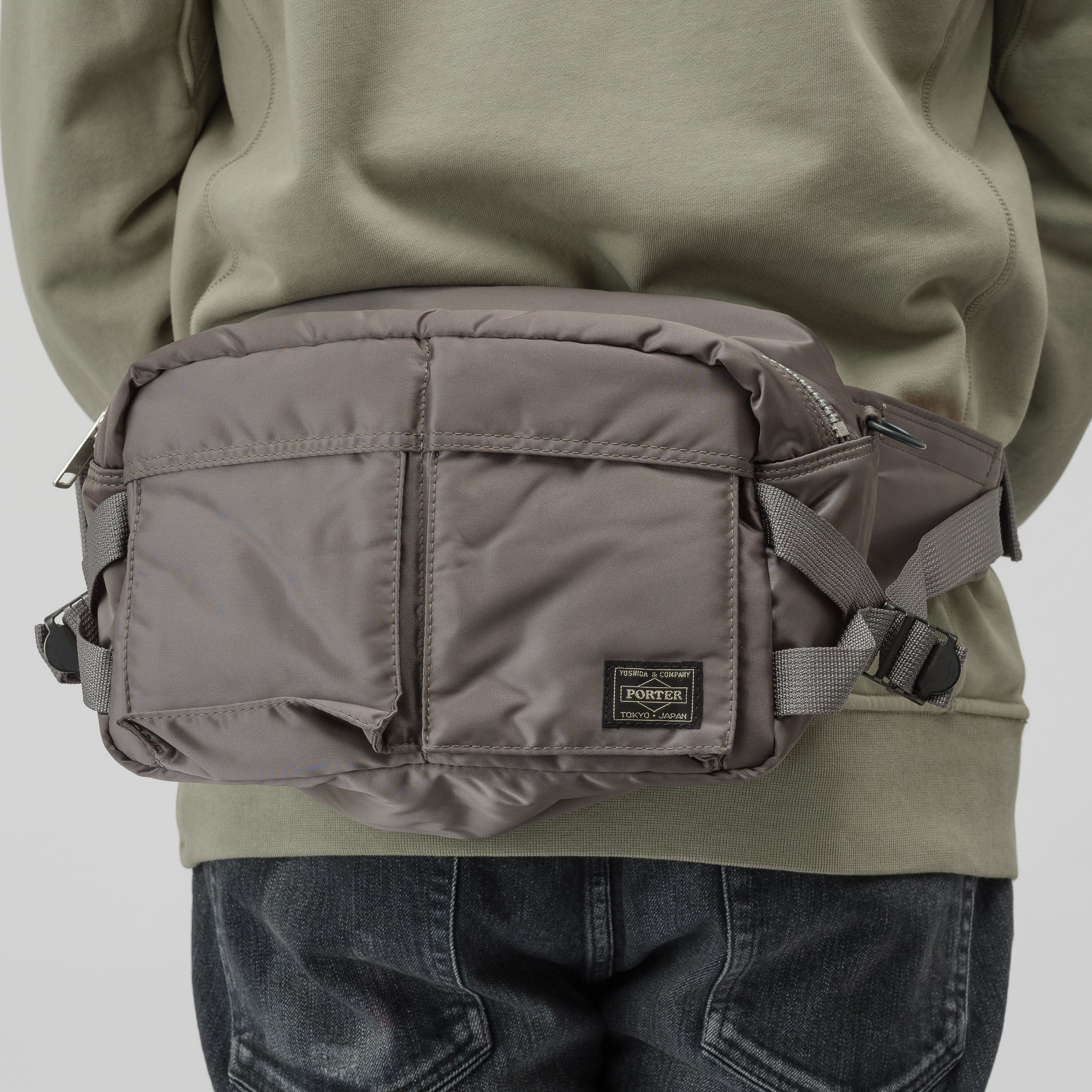 TANKER 2Way Waist Bag in Military Green