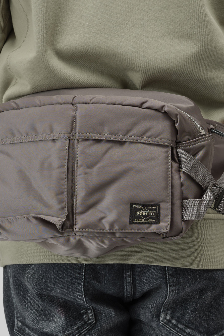 Porter TANKER 2Way Waist Bag in Military Green - Notre