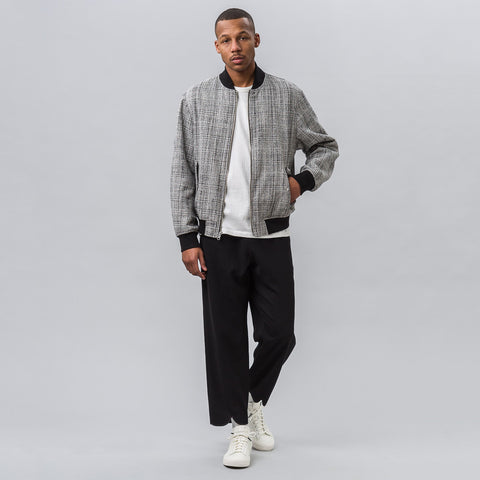 Public School Beve Reversible Bomber in Black/White - Notre