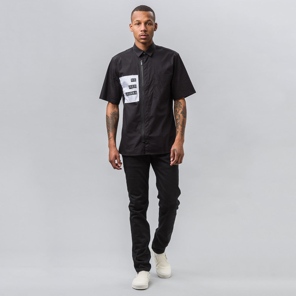 Public School Deren S/S Button Up Shirt in Black - Notre
