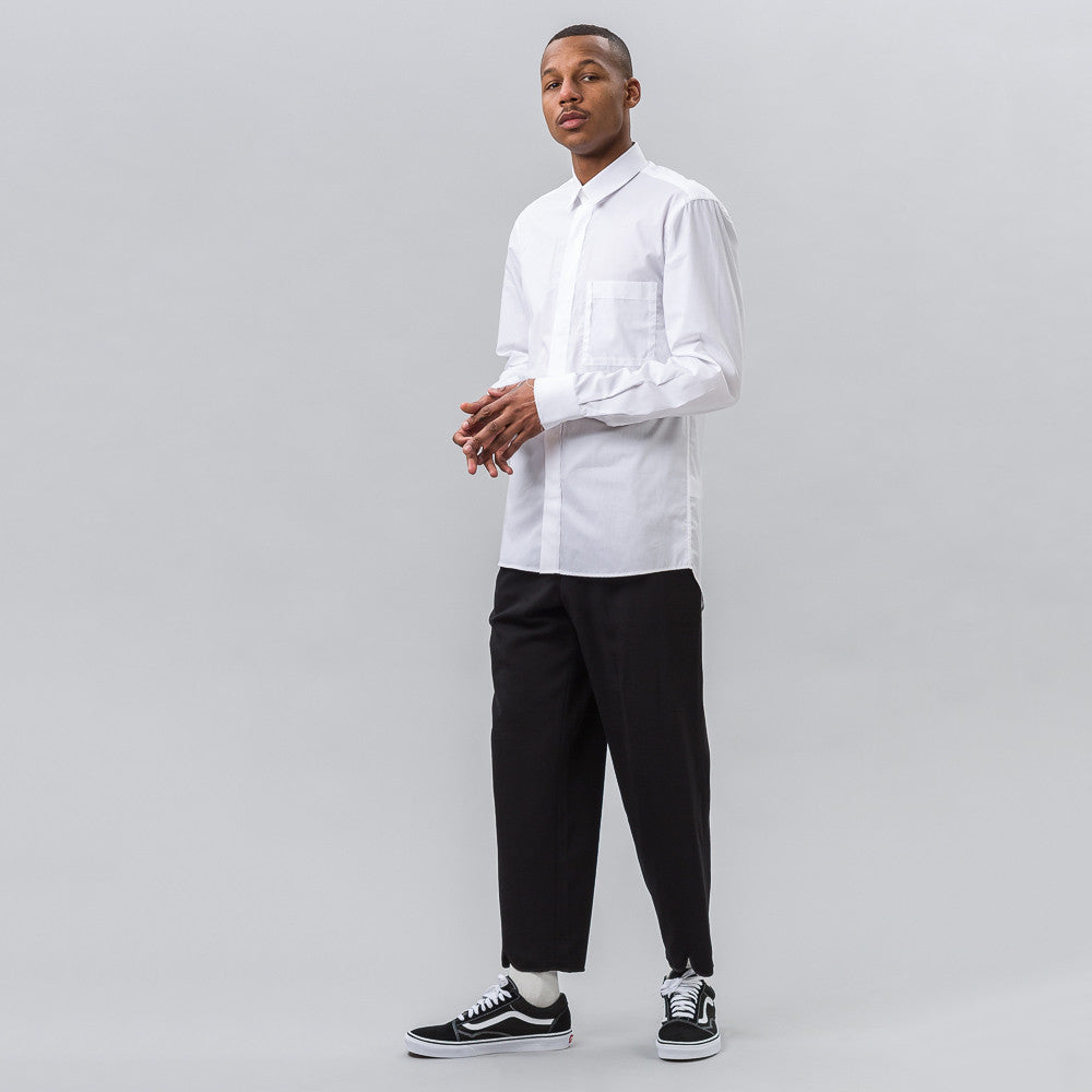 Public School Kit L/S Button Up Shirt in White - Notre