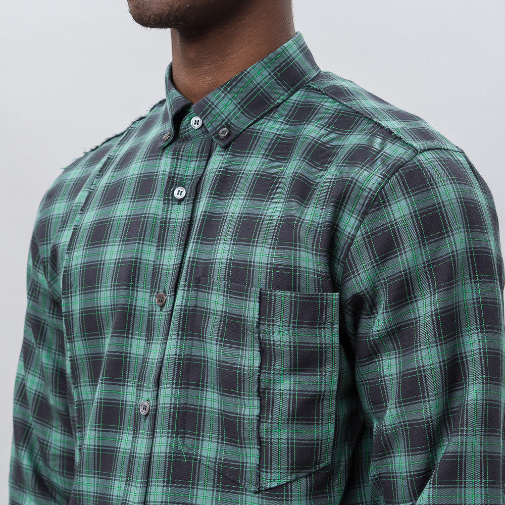 Public School Retor L/S Button Up in Dark Green Notre 1