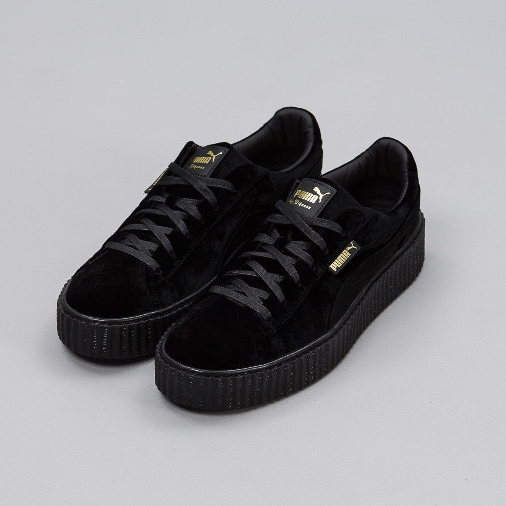 Fenty Creeper in Black Velvet