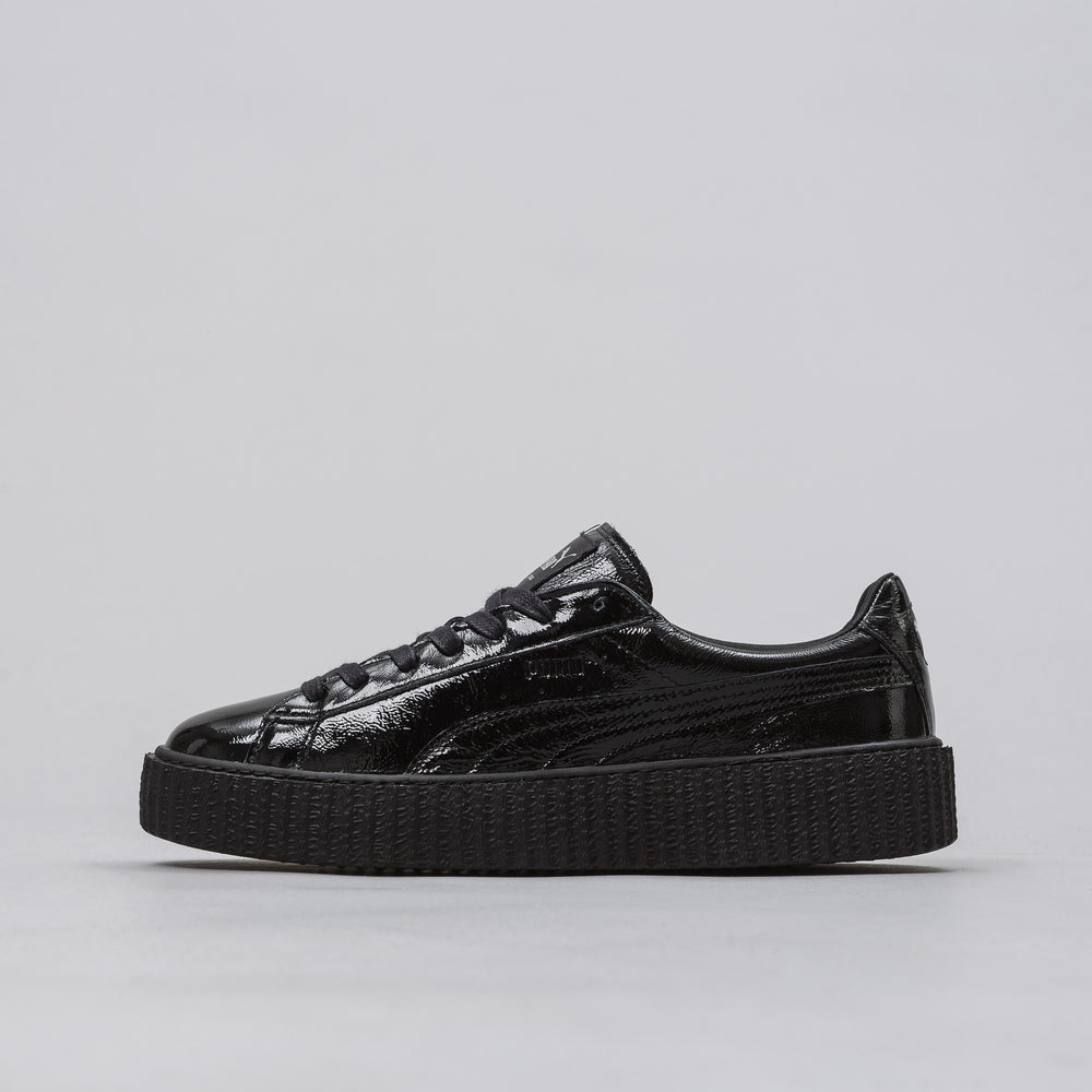 Puma Fenty Creeper in Black Wrinkled Patent (Mens) - Notre