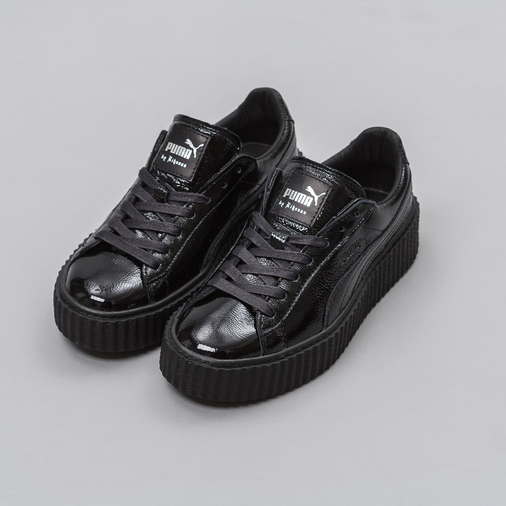 Puma Fenty Creeper in Black Wrinkled Patent (Womens) - Notre
