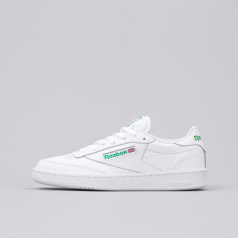 Reebok Club C 85 in White/Green - Notre