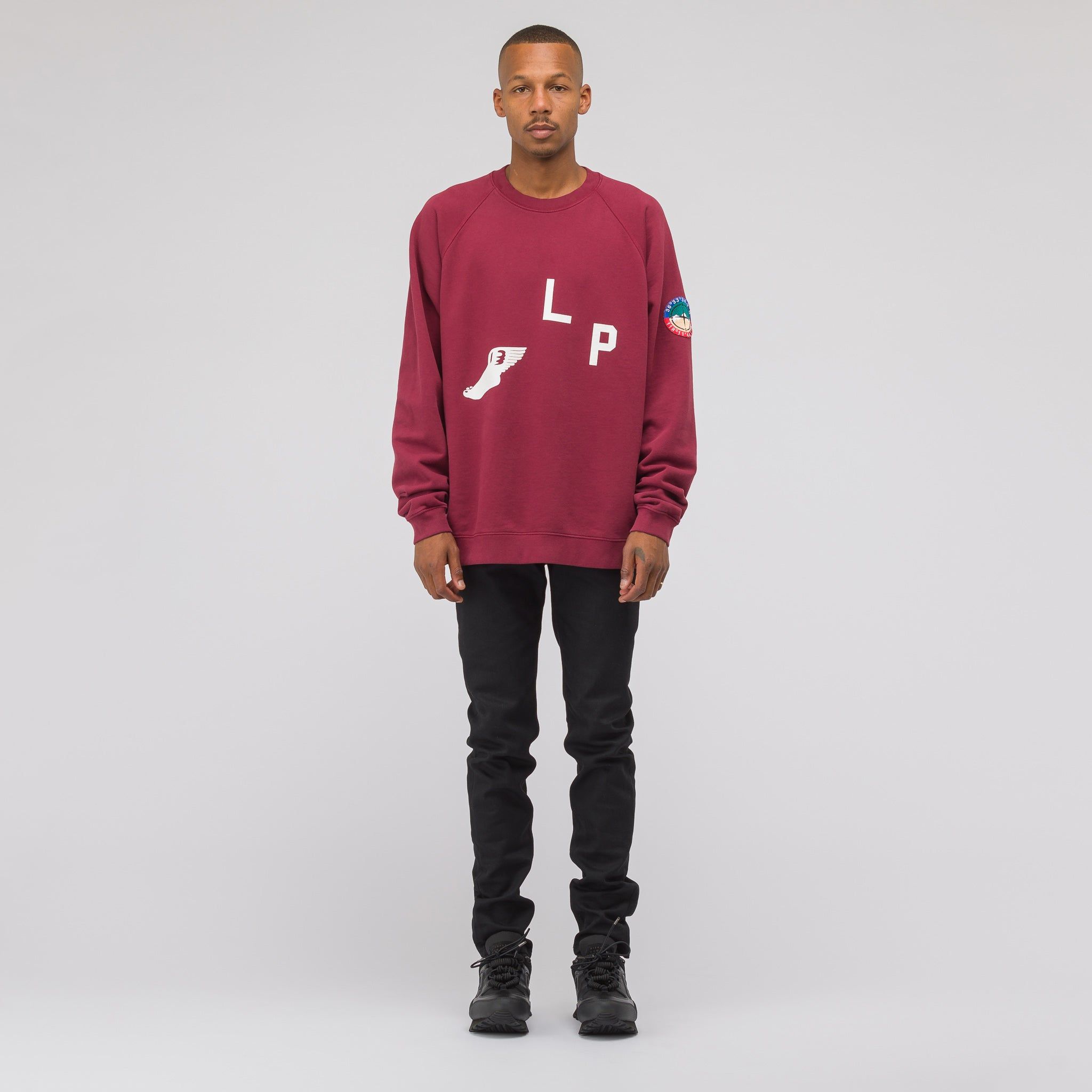 Cross Country Sweatshirt in Burgundy