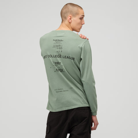 Reese Cooper Fever Dream Long Sleeve T-Shirt in Green/Black - Notre