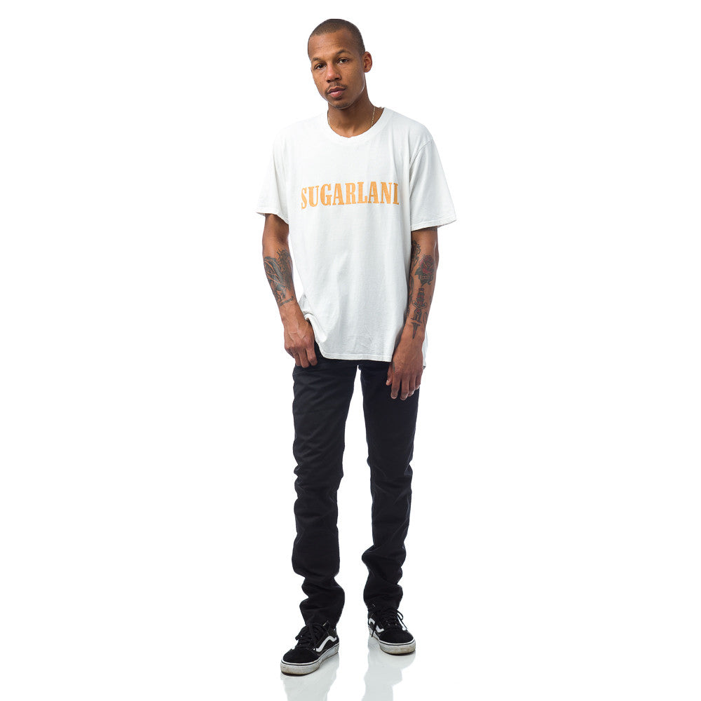 Rhude Sugarland Tee in Vintage White Model View