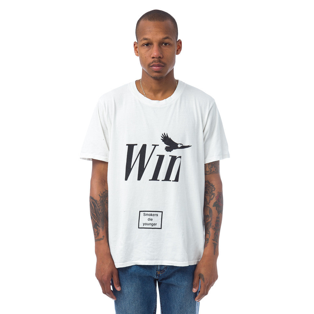 Rhude Winston Tee in Vintage White Model Shot