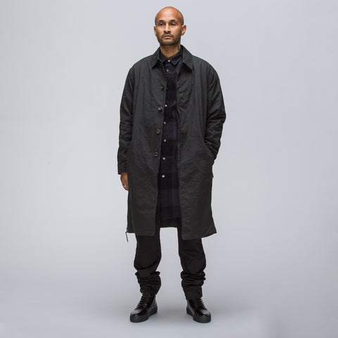 Robert Geller Felix Nylon Coat in Charcoal - Notre