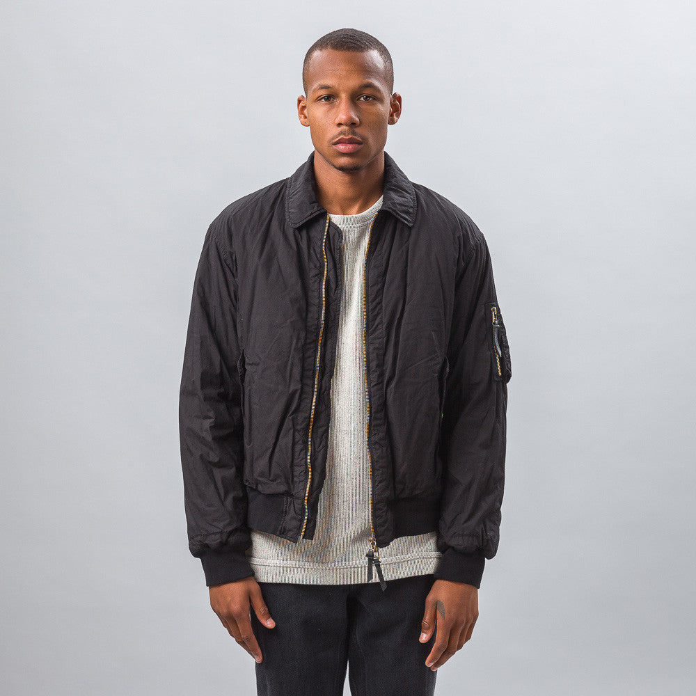 Robert Geller - Garment Dyed Bomber in Black - Notre - 1