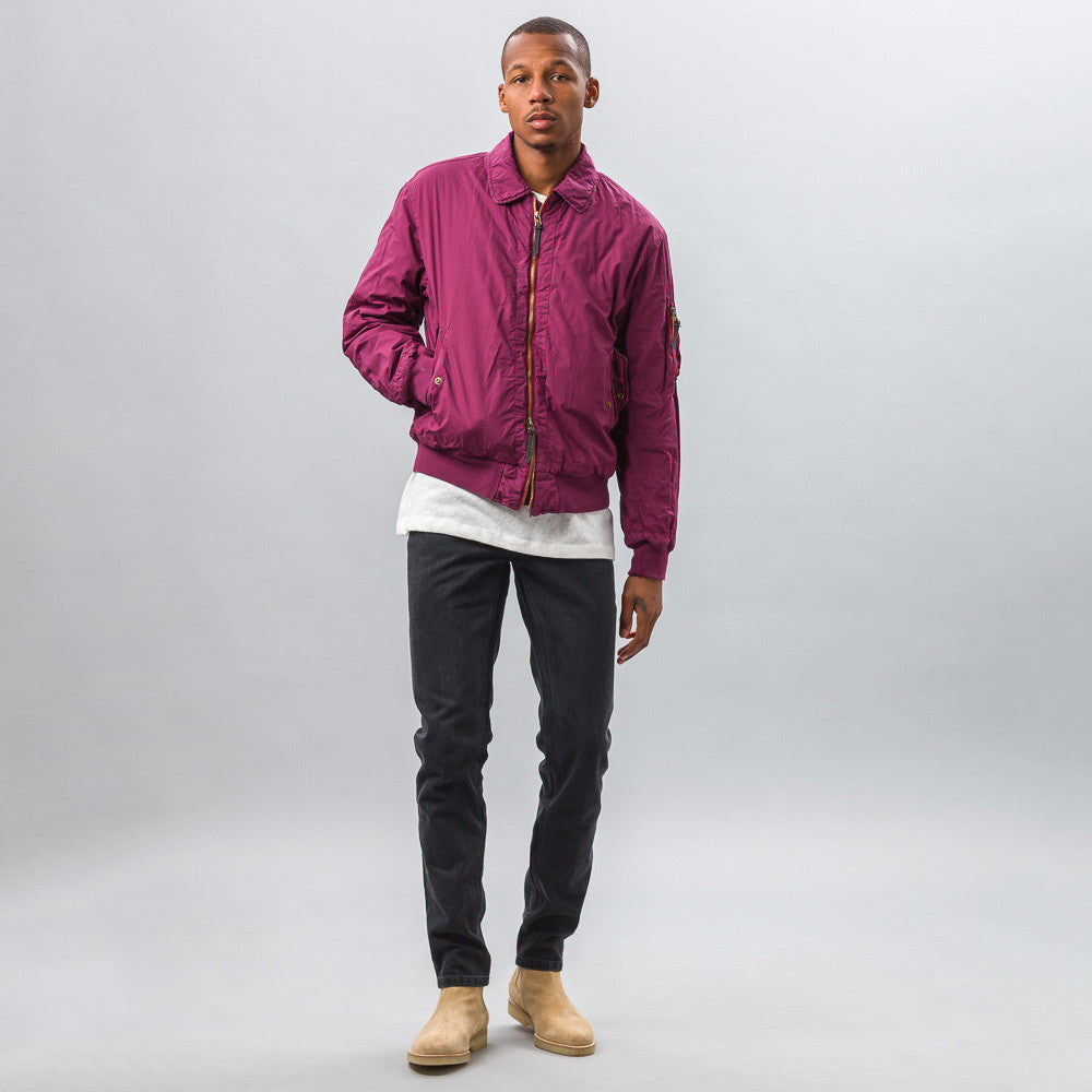 Robert Geller - Garment Dyed Bomber in Purple - Notre - 1