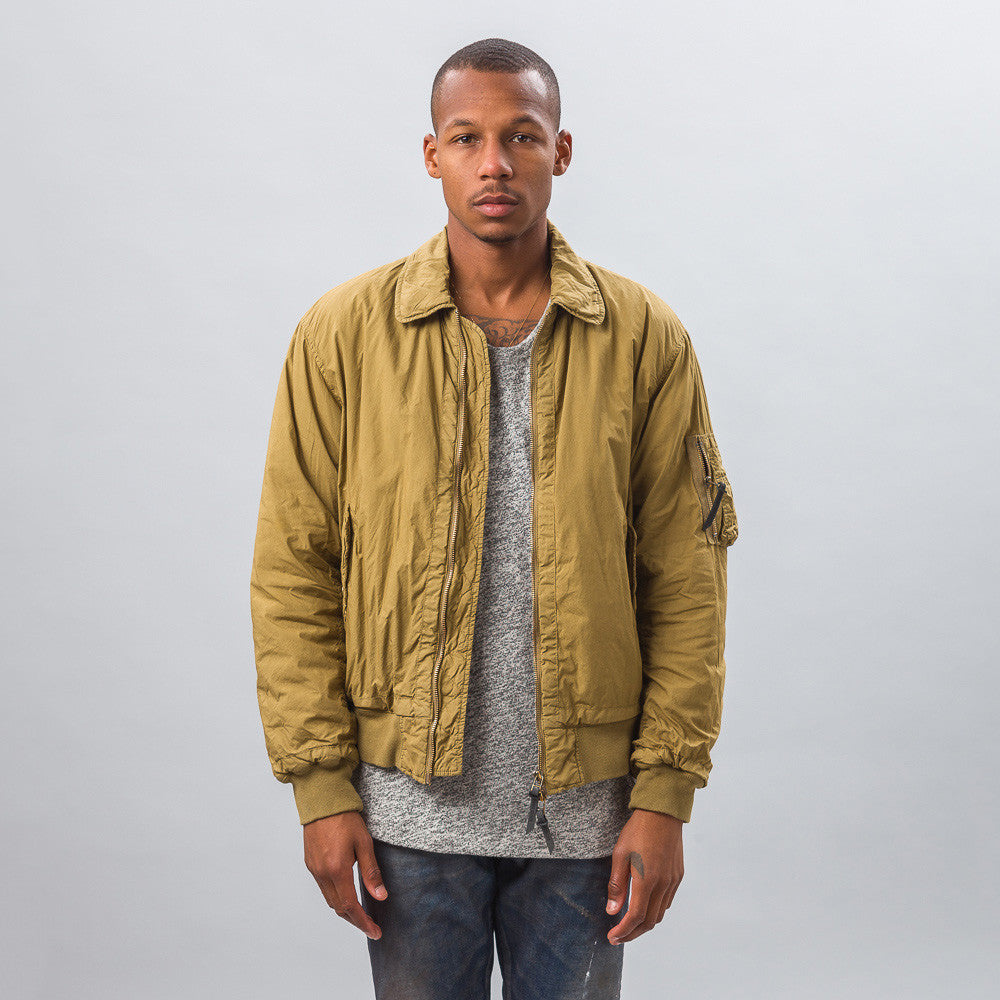 Robert Geller - Garment Dyed Bomber in Yellow - Notre - 1