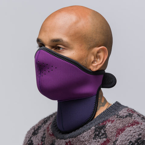 Robert Geller Neoprene Mask in Purple/Navy - Notre