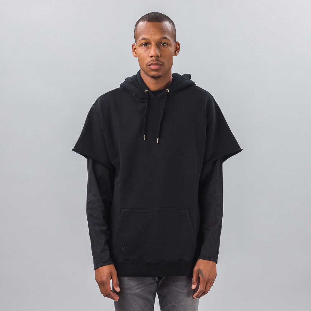 Robert Geller - Seconds Cut-Sleeve Sweatshirt in Black - Notre - 1