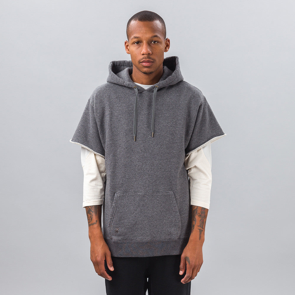Robert Geller - Seconds Cut-Sleeve Sweatshirt in Grey - Notre - 1