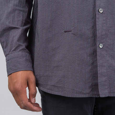 Robert Geller Striped Dress Shirt in Charcoal - Notre