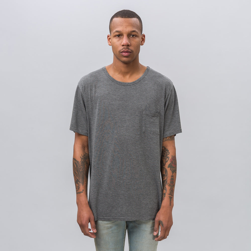 Robert Geller Striped T-Shirt in Grey - Notre