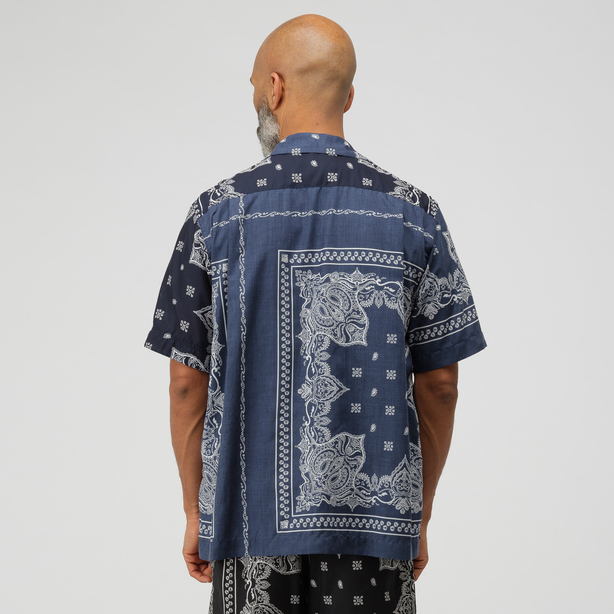 Bandana Print Shirt in Navy