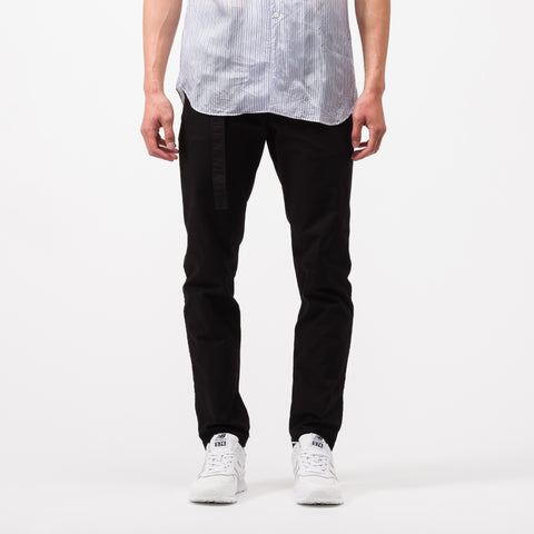 sacai Cotton Nylon Oxford Pants in Black - Notre