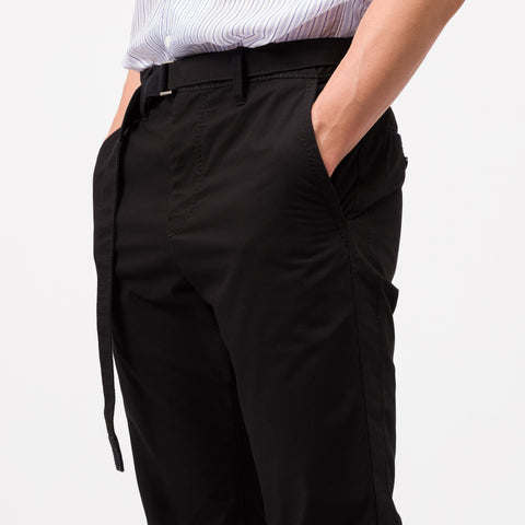 Cotton Nylon Oxford Pants in Black