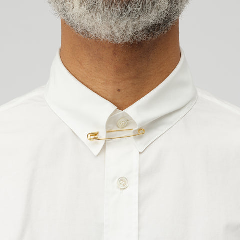 sacai Button Down Shirt in White - Notre