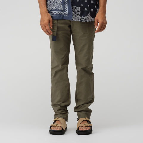 sacai Cotton Nylon Oxford Pants in Khaki - Notre
