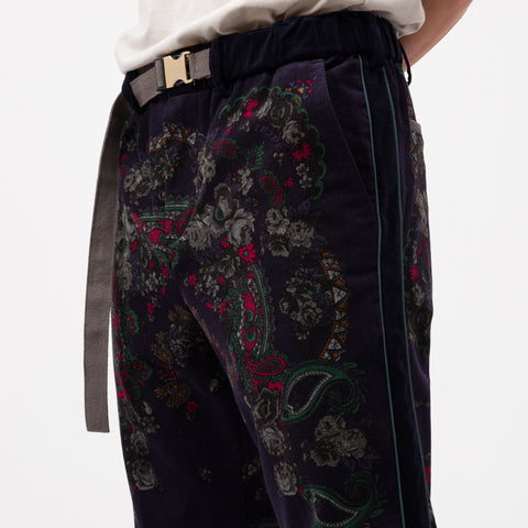 sacai Floral Pant in Navy - Notre