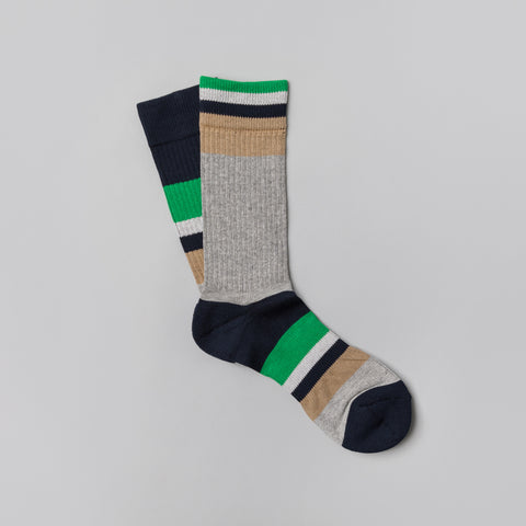 sacai Stripe Socks in Grey Multi - Notre