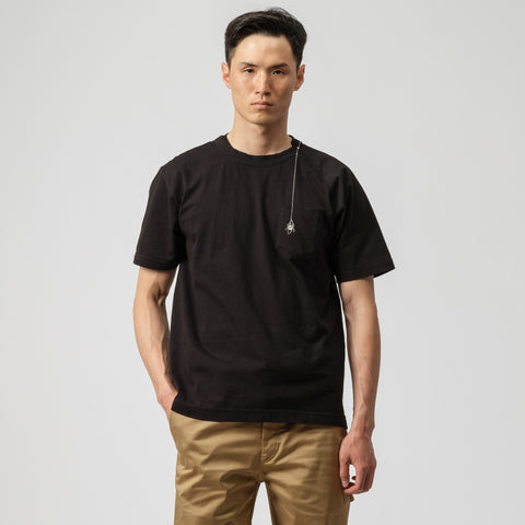 sacai x Dr Woo Embroidered T-Shirt in Black - Notre
