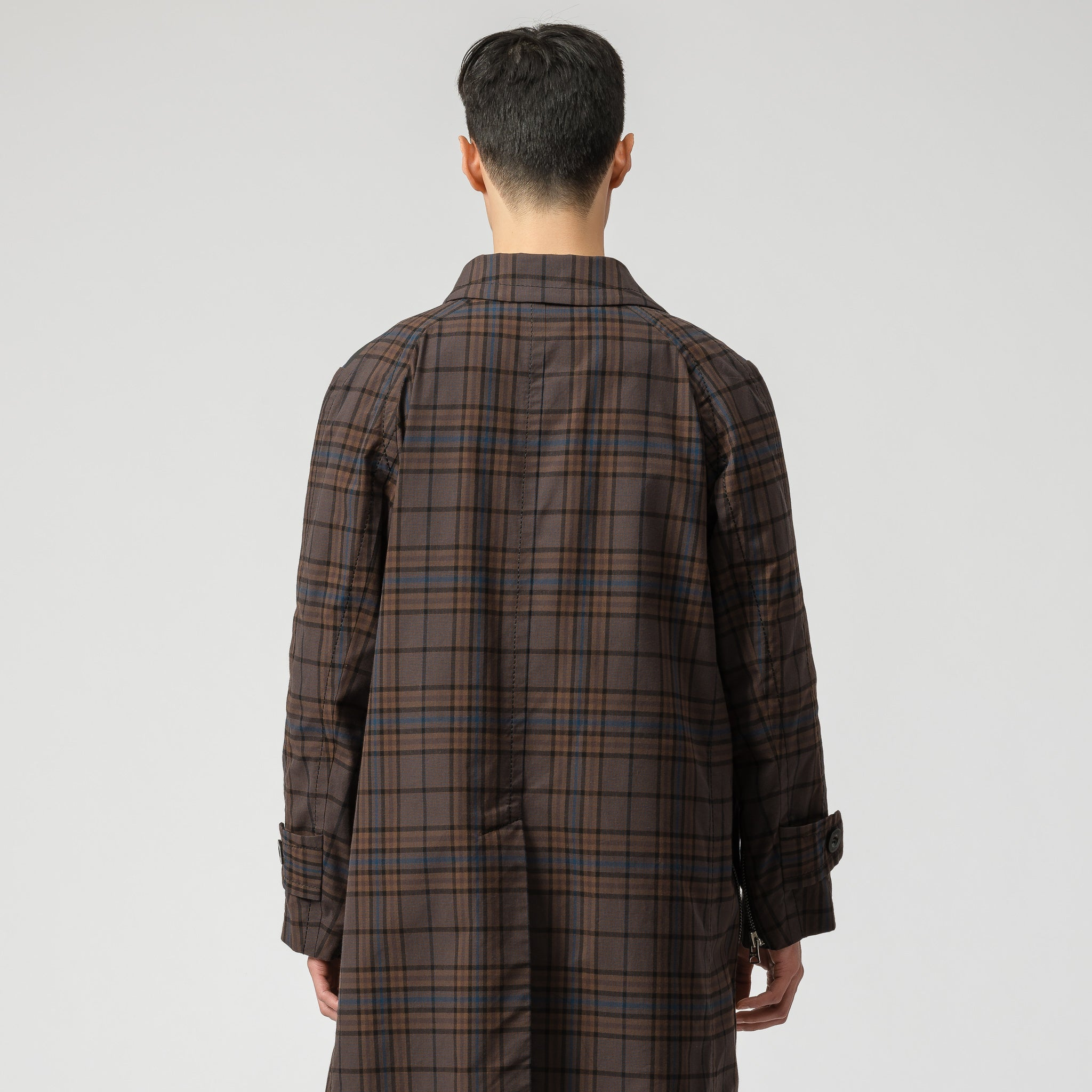 x Pendleton Coat in Brown/Blue Plaid