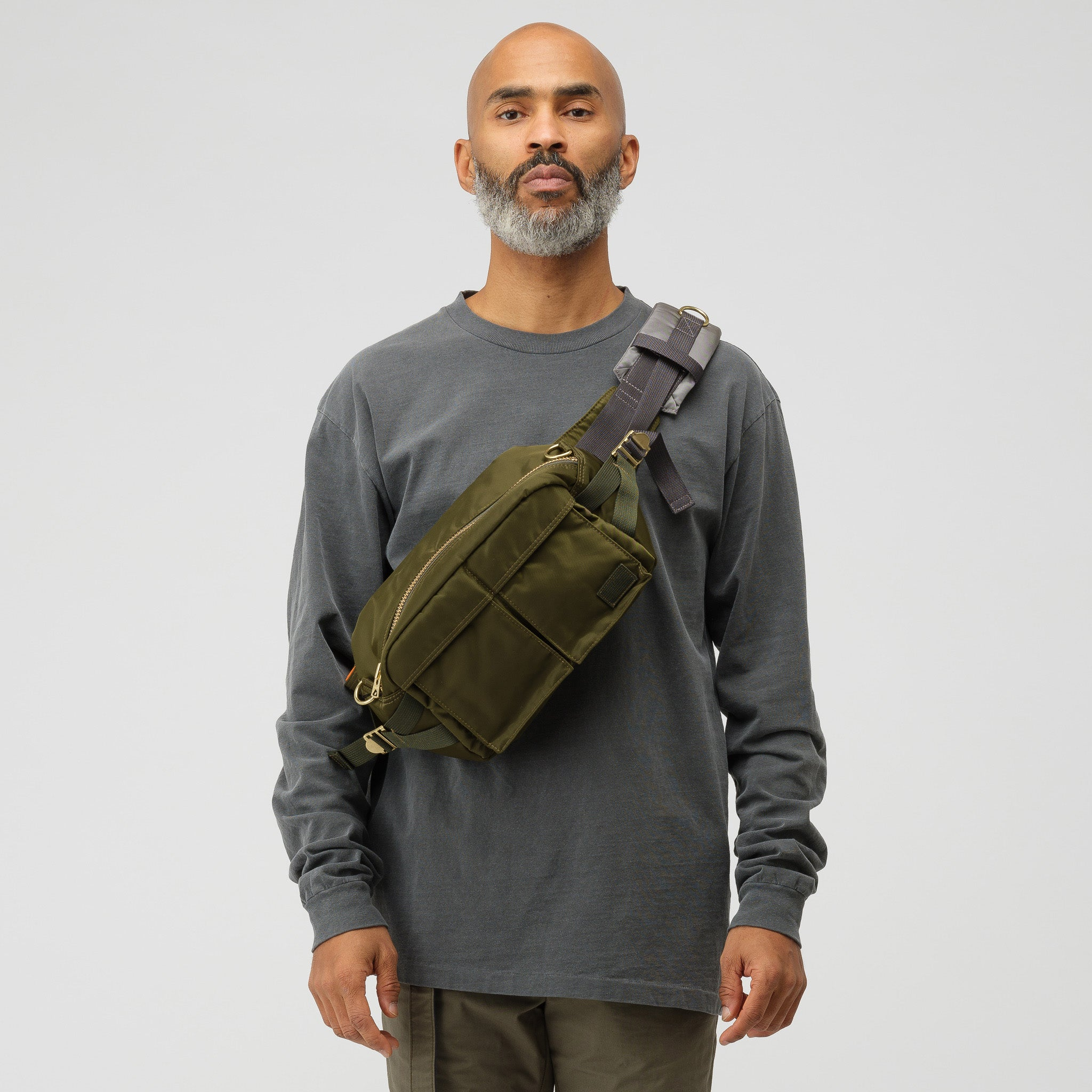 x Porter Bag in Khaki/Gold
