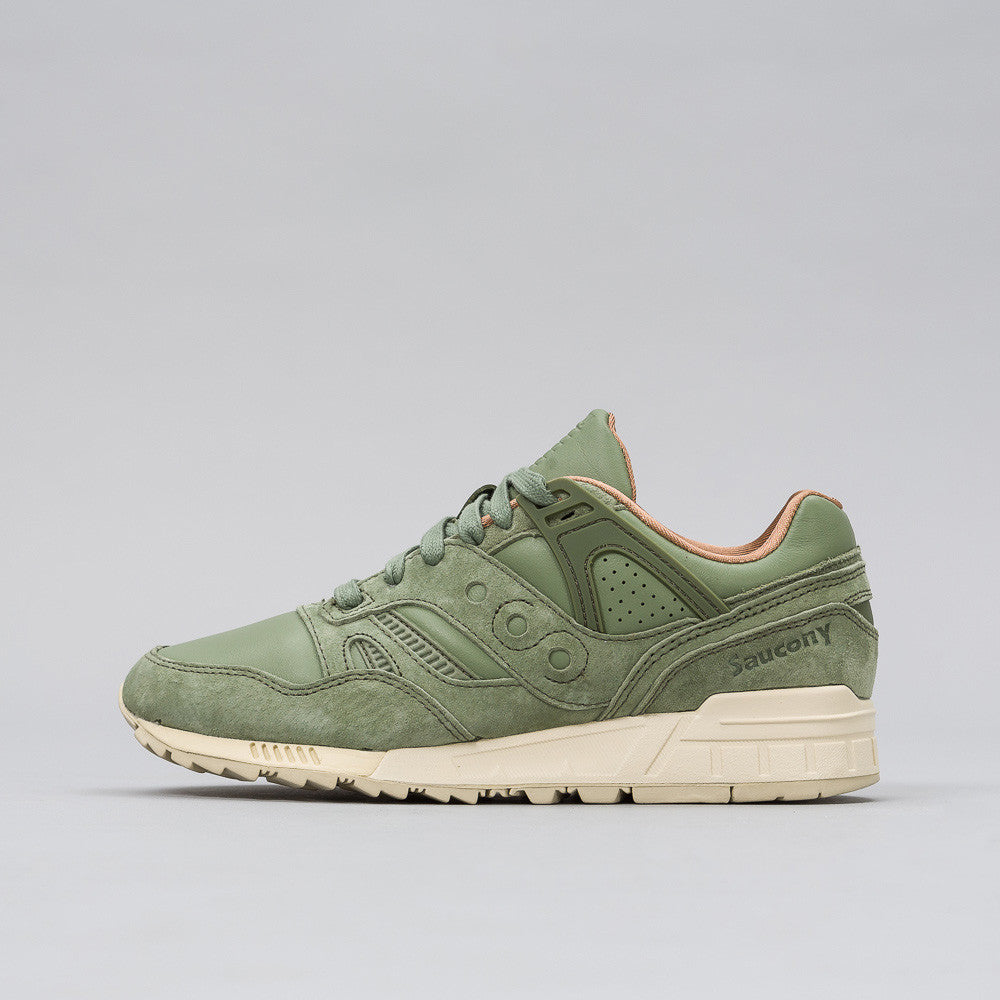 Saucony Grid SD in Olive Green Notre 1