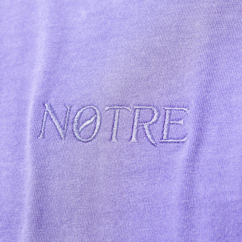 Notre S/S Washed Logo Tee in Purple - Notre