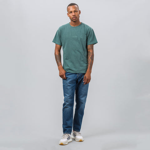 Notre S/S Washed Logo Tee in Sea Green - Notre