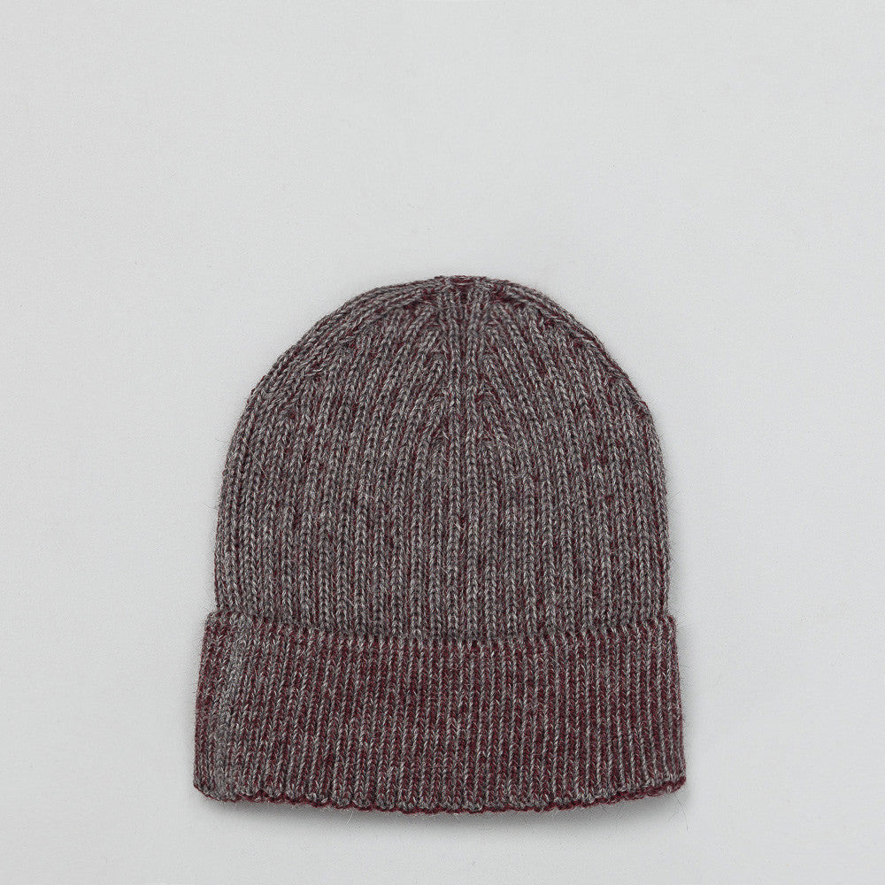 Bay Cap in Steel/Burgundy