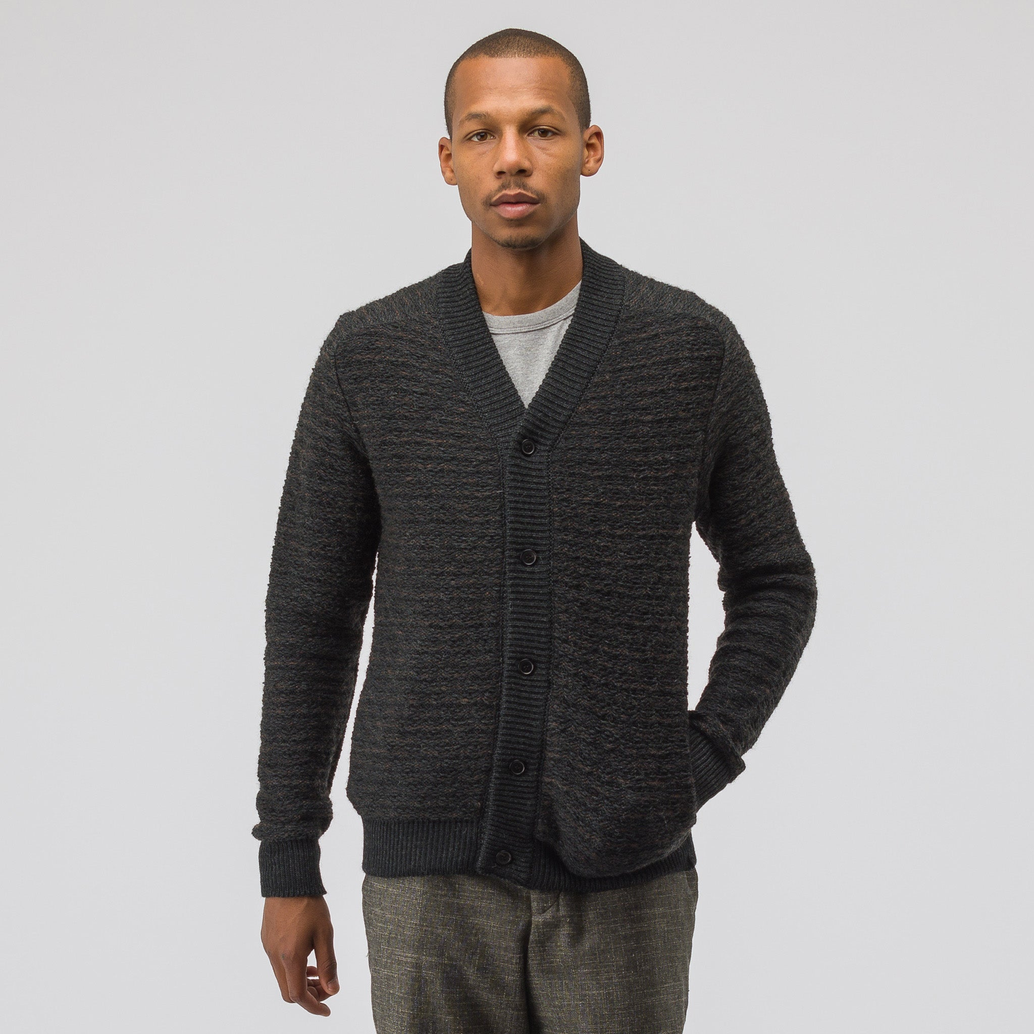 Brush Cardigan in Charcoal