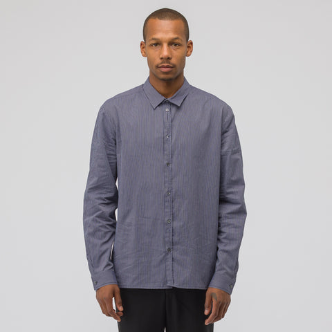 Stephan Schneider Curly Shirt in Blue Stripe - Notre