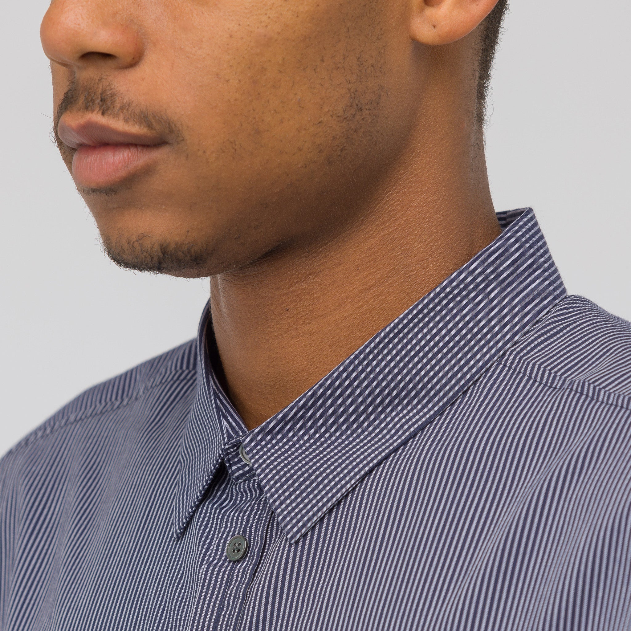 Curly Shirt in Blue Stripe