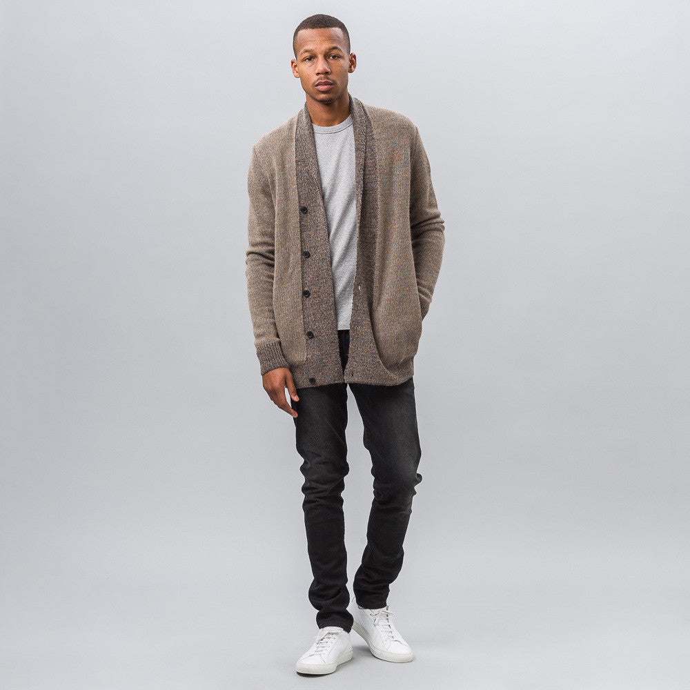 Notre Exclusive - Mountains Cardigan in Beige/Grey