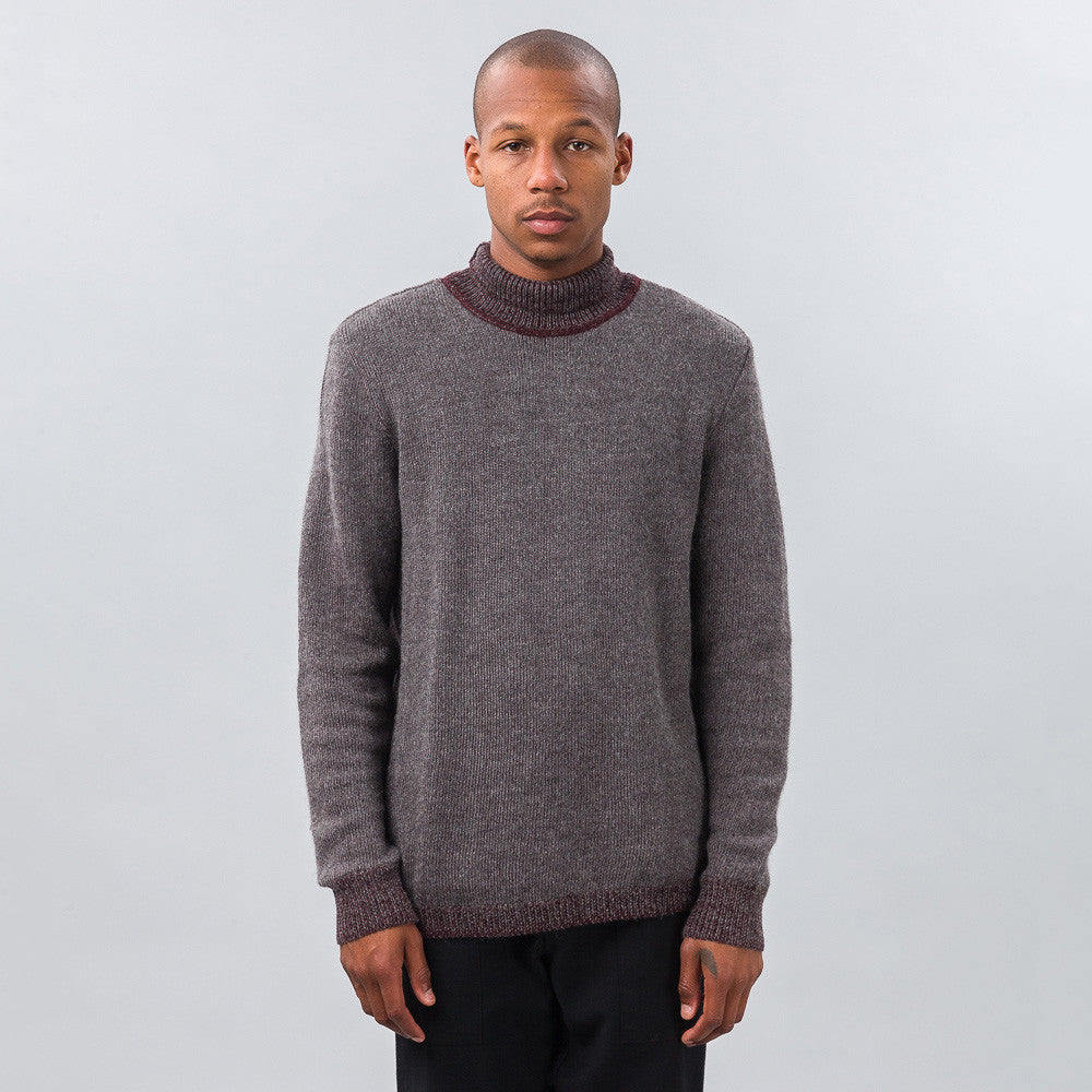 Turtle Fields Sweater in Steel/Wine