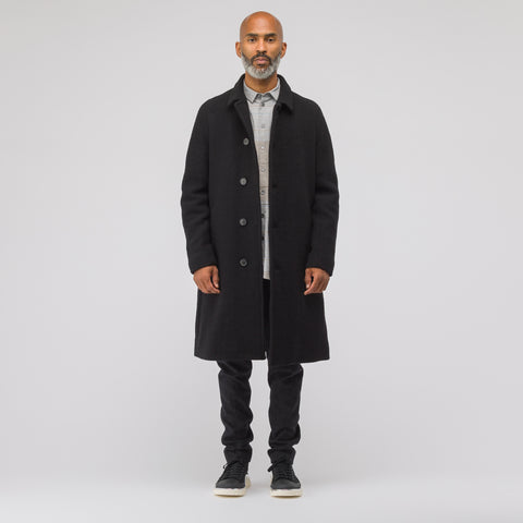Stephan Schneider Weave Wool Coat in Black - Notre