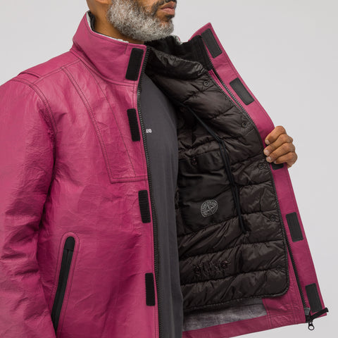 Stone Island 00199 Ice Jacket Bonded Leather in Fuchsia - Notre