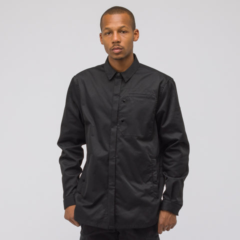 Stone Island Shadow Project 10305 Garment Dyed Poly Optima Button Down in Black - Notre