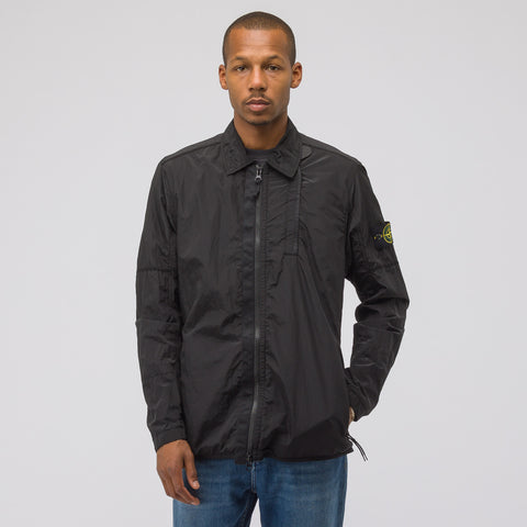 Stone Island 10812 Nylon Metal Overshirt in Black - Notre