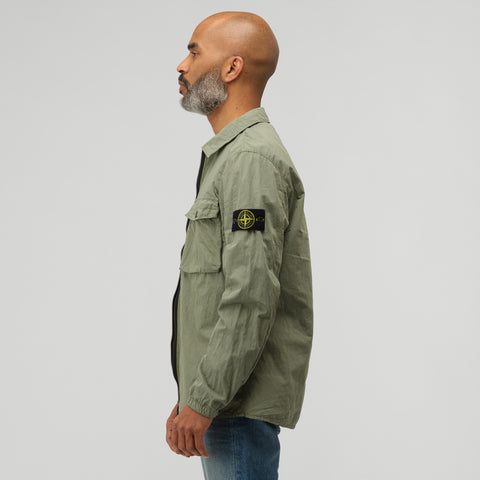 Stone Island 13108 Shirt Jacket in Sage Green - Notre