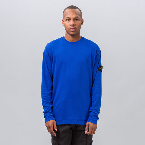 Stone Island Patch Long-Sleeve Tee in Blue - Notre